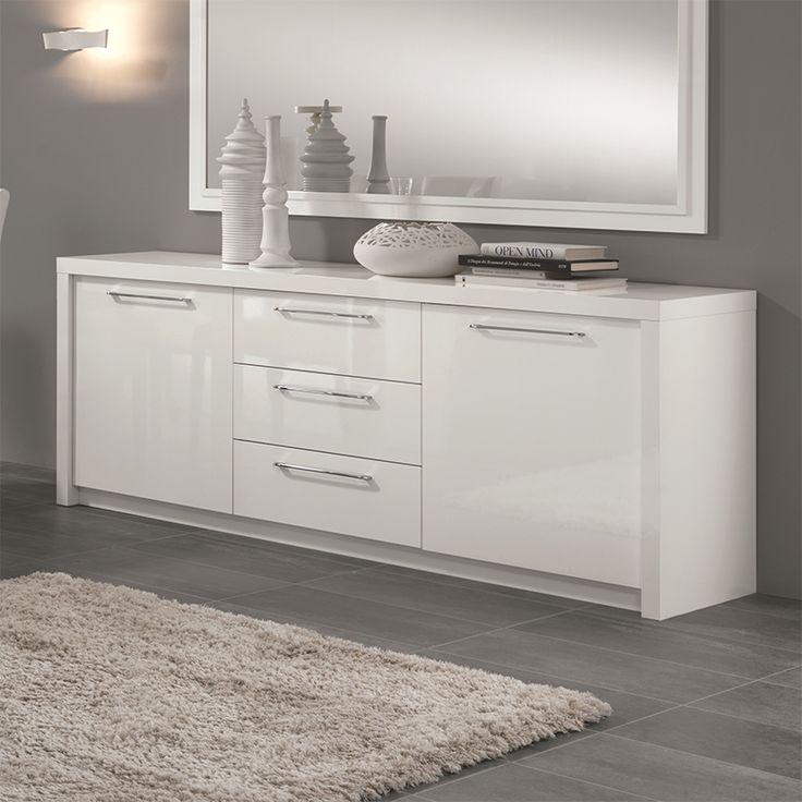 les 25 meilleures id es de la cat gorie buffet blanc laqu. Black Bedroom Furniture Sets. Home Design Ideas