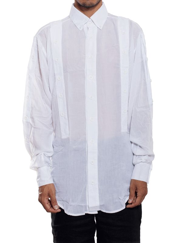 EGR Multi Button Shirt White