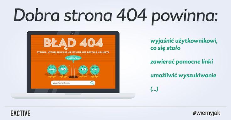 Jakie elementy powinna zawierać dobra strona 404?