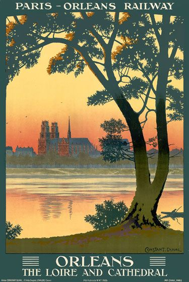 Orleans The Loire French France Travel Poster