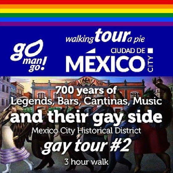 2a parte del Recorrido a pie por la historia gay del Centro Histórico de la Ciudad de México saliendo de @barrioalameda. Boletos en @Boletopolis punto com.