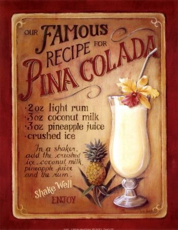Free Tropical Drink and Cocktail Recipes.: Tropical cocktails: The Pina Colada Recipe and the Origins of the Pina Colada.
