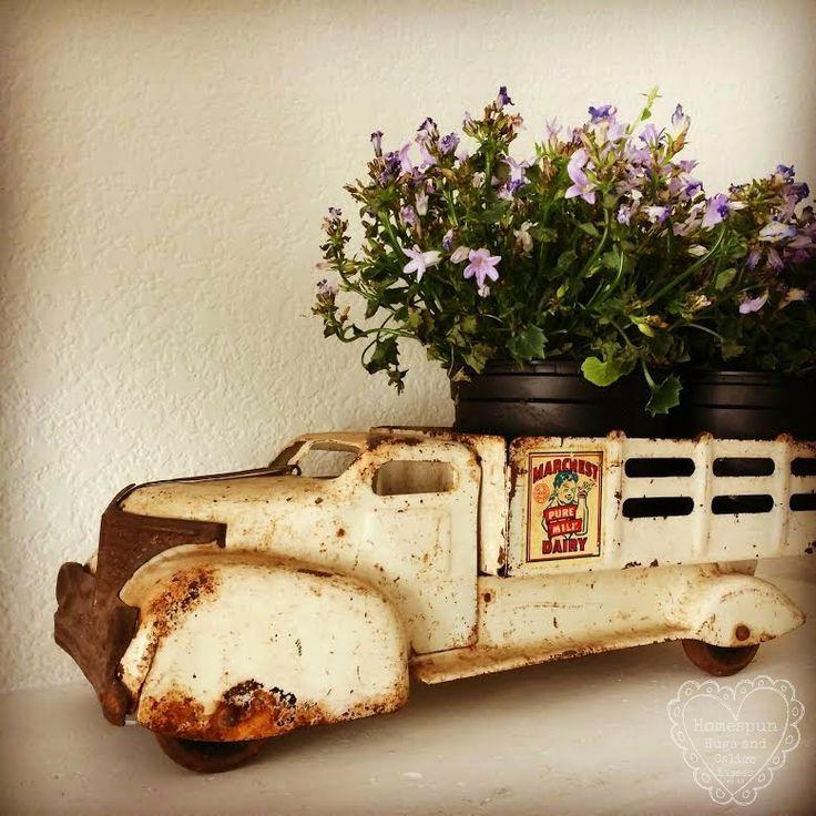 Vintage Toy Trucks Part - 32: Antique Vintage Toy Truck ... Homespun Hugs And Calico Kisses