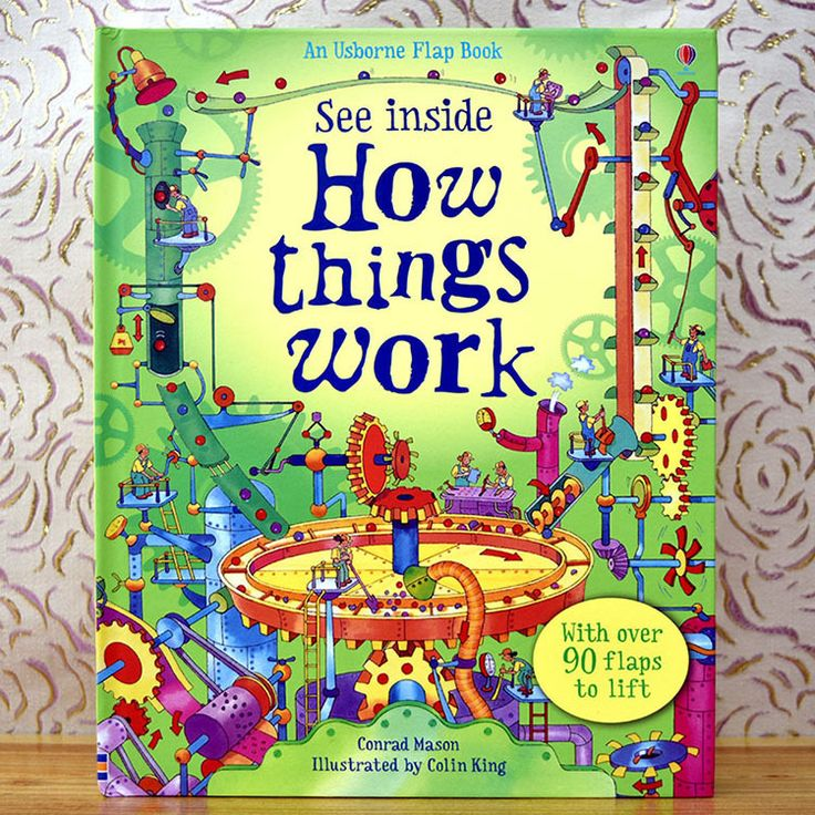 Великобритании Оригинальный Английский 3D Flip Book Howthings Трудовое Воспитание для Детей С более чем 90 клапанами поднять видеть внутри купить на AliExpress