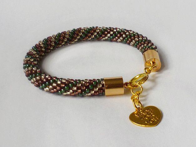 Bransoletka Tricolore z zawieszką - Projektownia - #Bransoletki z koralików #bead #crochete #bracelet #handmade #jewelry