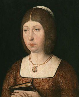 Isabel I la Católica (1451-1504), reina de Castilla (1474-1504), durante su reinado se produjo el descubrimiento europeo del continente americano y la unión dinástica de la Corona de Castilla con l...
