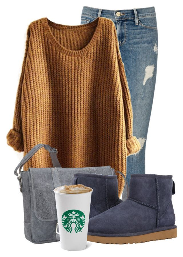 Comfy Days by aquabanana on Polyvore featuring polyvore, moda, style, Frame Denim, UGG, David King & Co., fashion and clothing