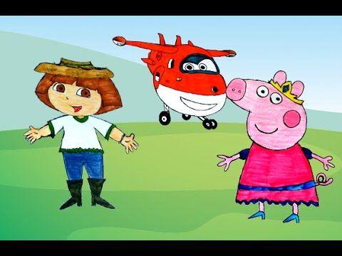 Peppa Pig Vários Desenhos em Portugues - Dora Aventureira Super Wings Co...