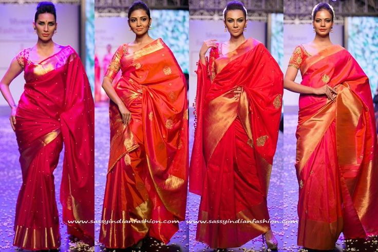 Red silk saree wedding collections