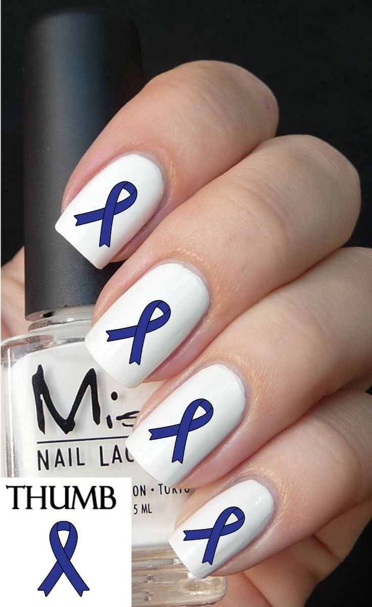 15 best colon cancer awareness nail art images on Pinterest | Colon ...