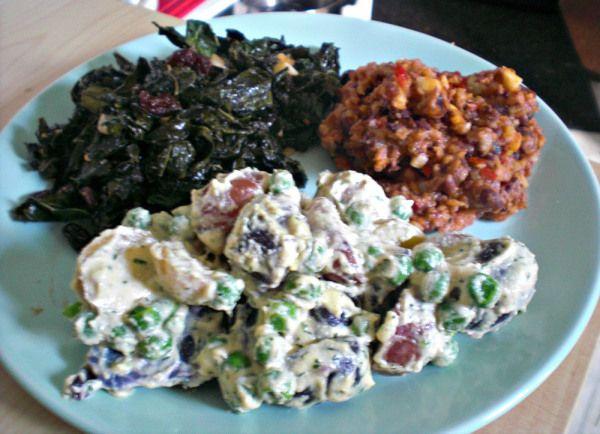 Best #Recipe I Made This Week: Ranch Potato Salad, Buffalo Tempeh, & Sweet #Kale Salad | #Vegan Chews & Progressive News