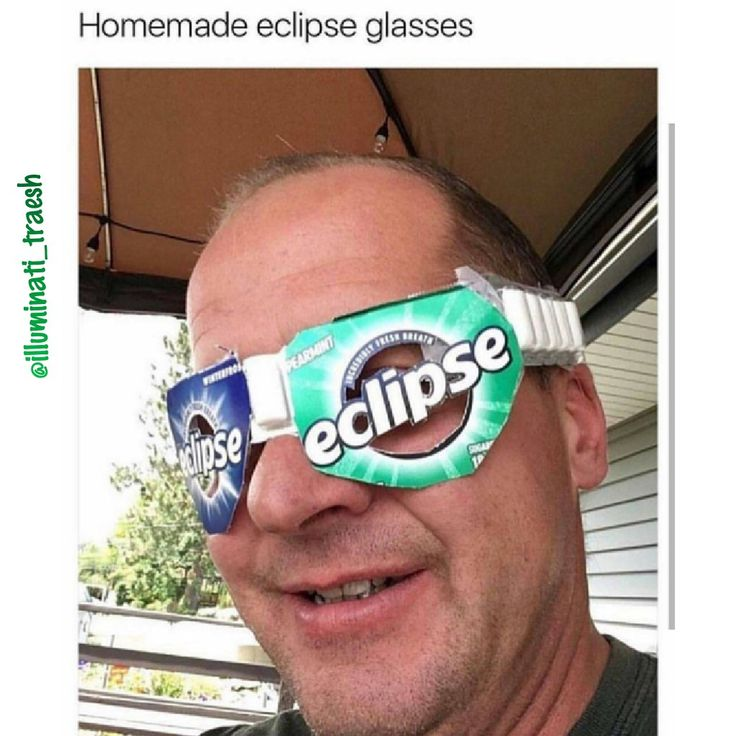 If you are to poor for real glasses. #meme #eclipse #fun #funny #memes