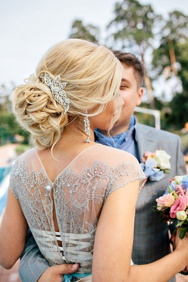 elegant wedding updo hairstyle for brides / http://www.deerpearlflowers.com/new-wedding-hairstyles-to-try/