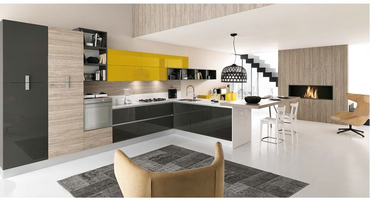 A splash of yellow for our #Love #Colour in the #Kitchen month. #Eurocasa