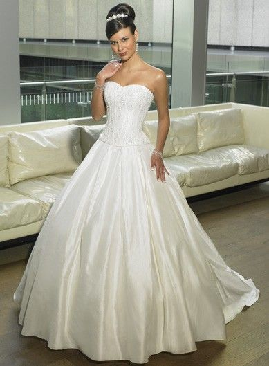 taffeta ball gown satin sweetheart