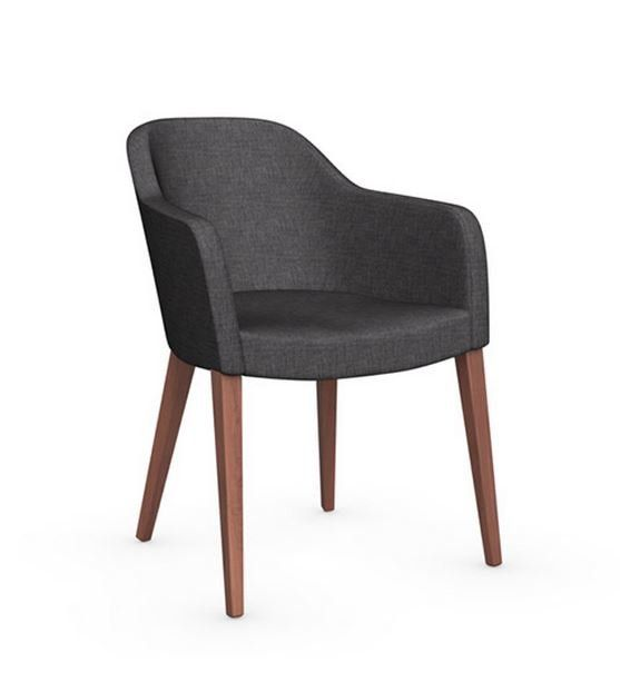 Chaise design gossip avec accoudoirs de calligaris for Chaise fauteuil