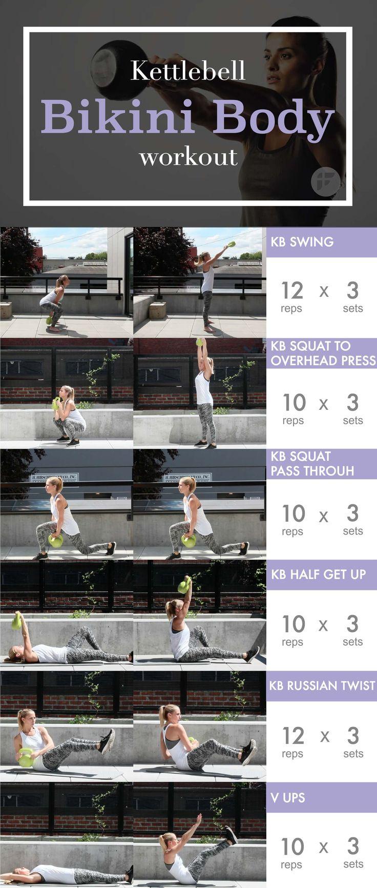 20-Minute Kettlebell Bikini Body Workout