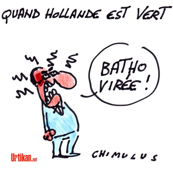 Batho quitte Hollande: le gouvernement prend l'eau - Dessin du jour - Urtikan.net