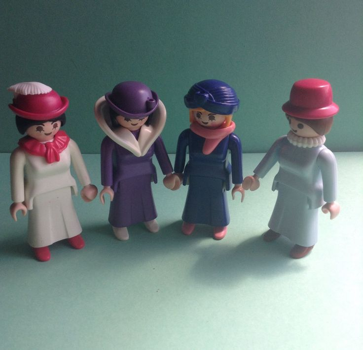 Victorian Girl Power, 80's Playmobil Geobra, 4 piece girl set, vintage toys, original, collectible, figures, egst, Greece by GirlyStuffByDeJaVu on Etsy