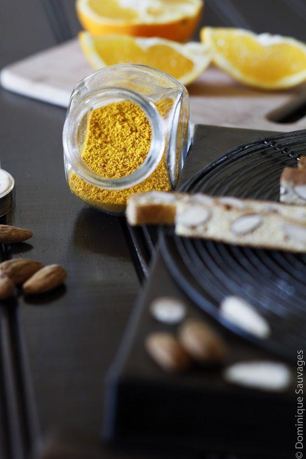 Poudre de zestes d'orange séchés