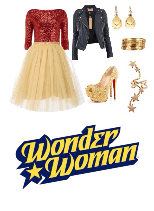 Wonder Woman inspired outfit. Shoes are way too high - would replace