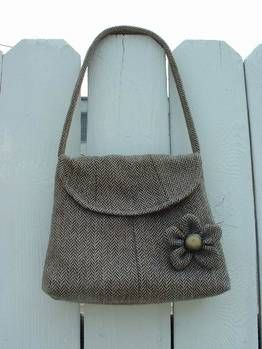 Suit jacket ----> purse and pin ---> Now with tutorial - PURSES, BAGS, WALLETS