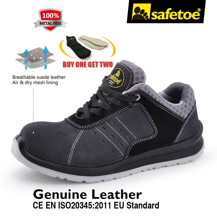 Safetoe Men Safety Shoes Work Shoes Safety Working Boots With Fiber Glass Toe Cap Metal Free Sport style Fashion For Men US 4-13