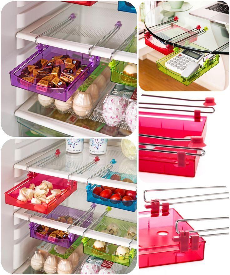 [Visit to Buy] Refrigerator storage box Egg Box Drawer Organizers Home Furnishing Desk Save Space Clear Plastic Storage Rack Fridge Box #Advertisement