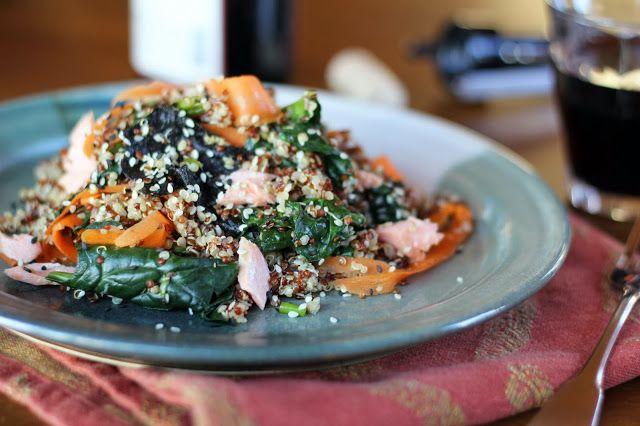 Nori Quinoa Salad by bluekaleroad #Salad #Nori #Quinoa #Healthy