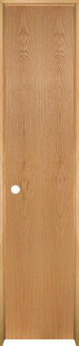 "Mastercraft® Ready-to-Finish Oak Flush Prehung Interior Door at Menards®: Mastercraft® 18"" W x 80"" H Ready-to-Finish Oak Flush Prehung Interior Door - Right Inswing"