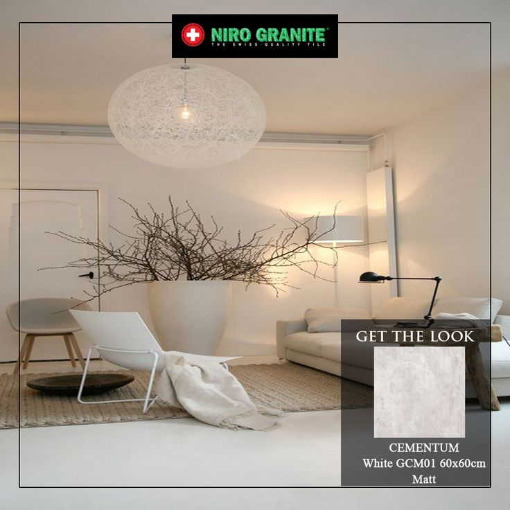 As the heart of your lovely home, a white look living room will give a minimalist and calm feeling. Add a touch of Cementum tiles to create an impression of extreme simplicity, but which achieves multiple visual and functional purposes. Visit www.nirogranite.co.id/product/cementum for details of Cementum.