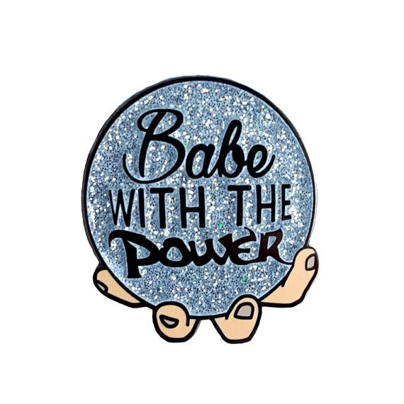 Babe With The Power enamel pin  Labyrinth by sugarandvicedesigns