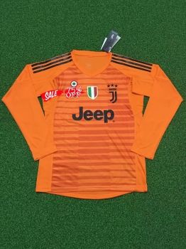 6bdc443bb 2018-19 Cheap Goalie Jersey Juventus Orange LS Replica Soccer Shirt  DFC204