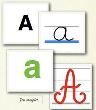 Jeu de cartes «les alphabets»