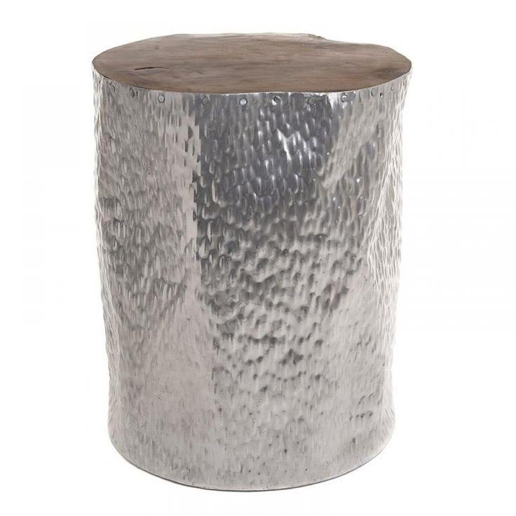 Τραπεζάκι από αλουμίνιο & ξύλο