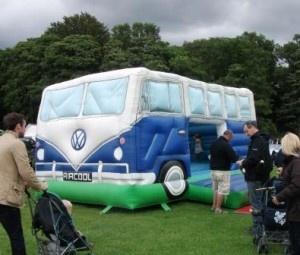 vw campervan bouncy castle