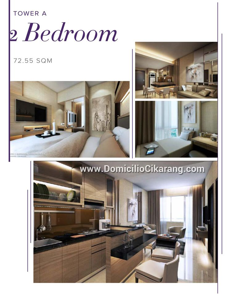 Design interior 2 BR Cikarang Apartment Domicilio