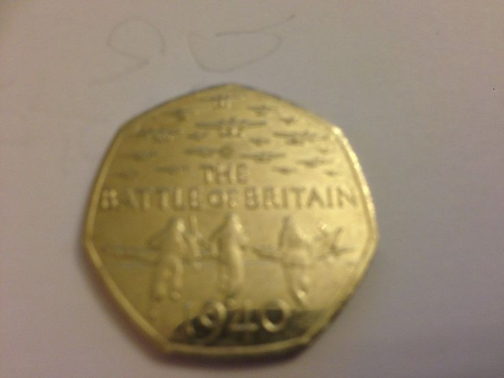 Rare British Coin Hunt Battle of Britain 50 pence coin