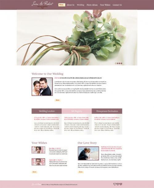 Нежность и элегантность: бесплатный шаблон для сайта о вашей свадьбе