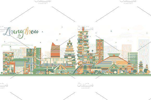 #Abstract #Zhengzhou #Skyline  by Igor Sorokin on @creativemarket