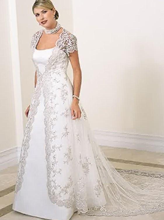 Plus size wedding dresses long beach