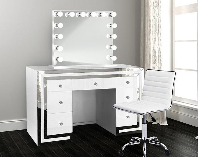 Hollywood Makeup Vanity Mirror With Lights Impressions Etsy Beauty Room Set