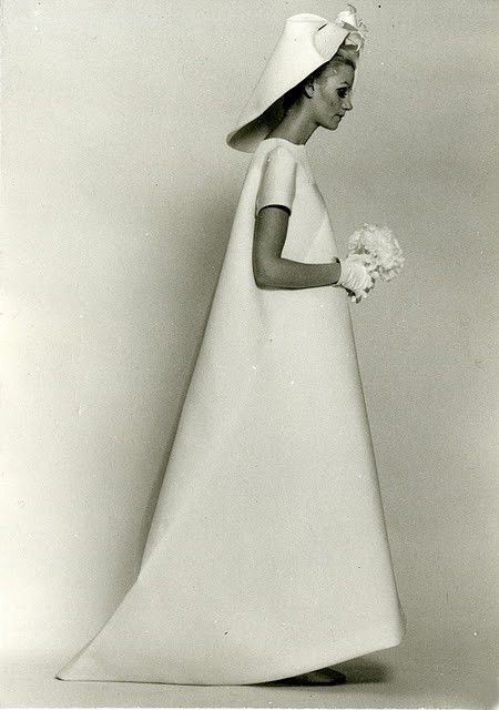 Balenciagas 1968 bridal couture gown. here-comes-the-bride