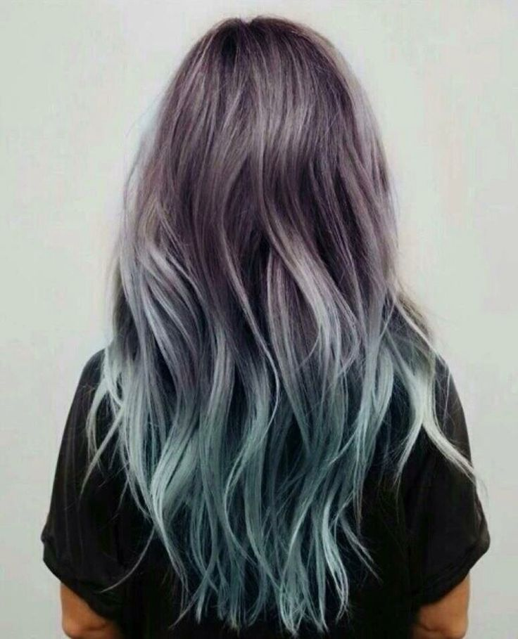 Grey dip dye