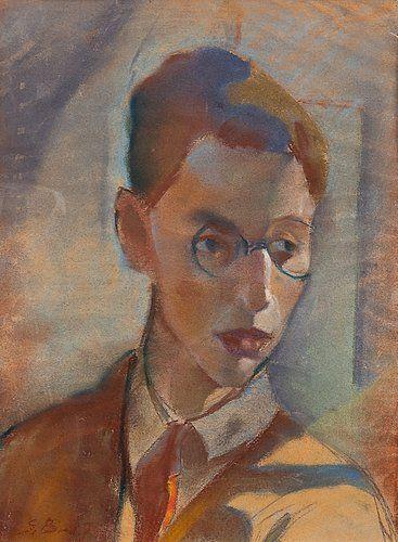Sam Vanni: Oma kuva, 1927, pastelli, 38,5x28,5 cm, Bukowskis F166