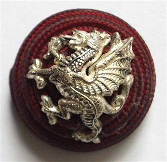 Royal Welsh Fusilers Bullion Officer's Cap Badge.