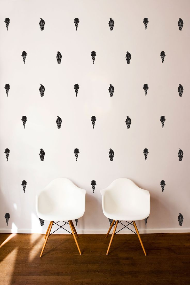 Deer head wall decal option a modern wall decals by dana decals - Ice Cream Cone Pattern Wall Decal Dana Decals
