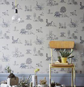 Grey Dinosaur Wallpaper Bedroom