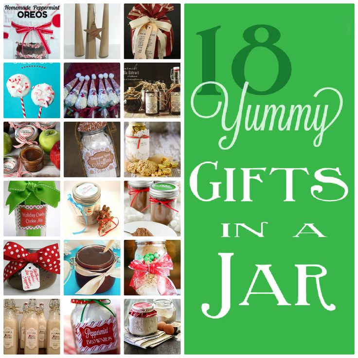 18 yummy gifts in a jar