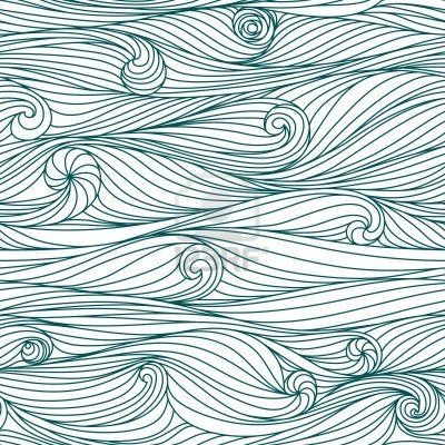 Abstract Blue Hand-drawn Pattern, Waves Background. Seamless.. Royalty Free Cliparts, Vectors, And Stock Illustration. Image 14719538.